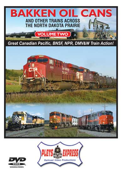 Bakken Oil Cans - Volume 2 and Other Trains Across the North Dakota Prairie DVD Train Video Plets Express 101BOC2