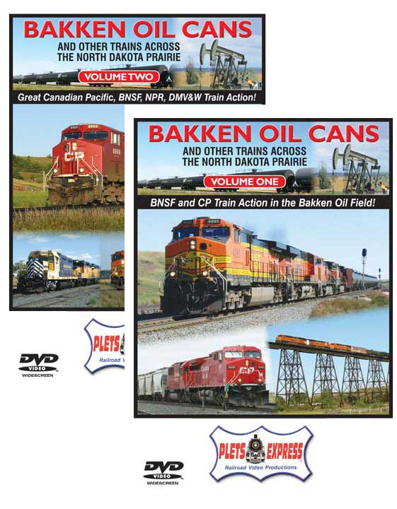 Bakken Oil Cans Set Vol 1 & 2 DVD  Train Video Plets Express 101BOCSETDVD