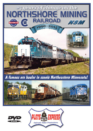25 Years of Change on the Northshore Mining Railroad 1990-2015 DVD Train Video Plets Express 107NSMR 753182981079