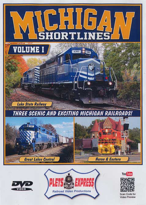 Michigan Shortlines Volume 1 DVD Plets Express 105MISL1 753182981055