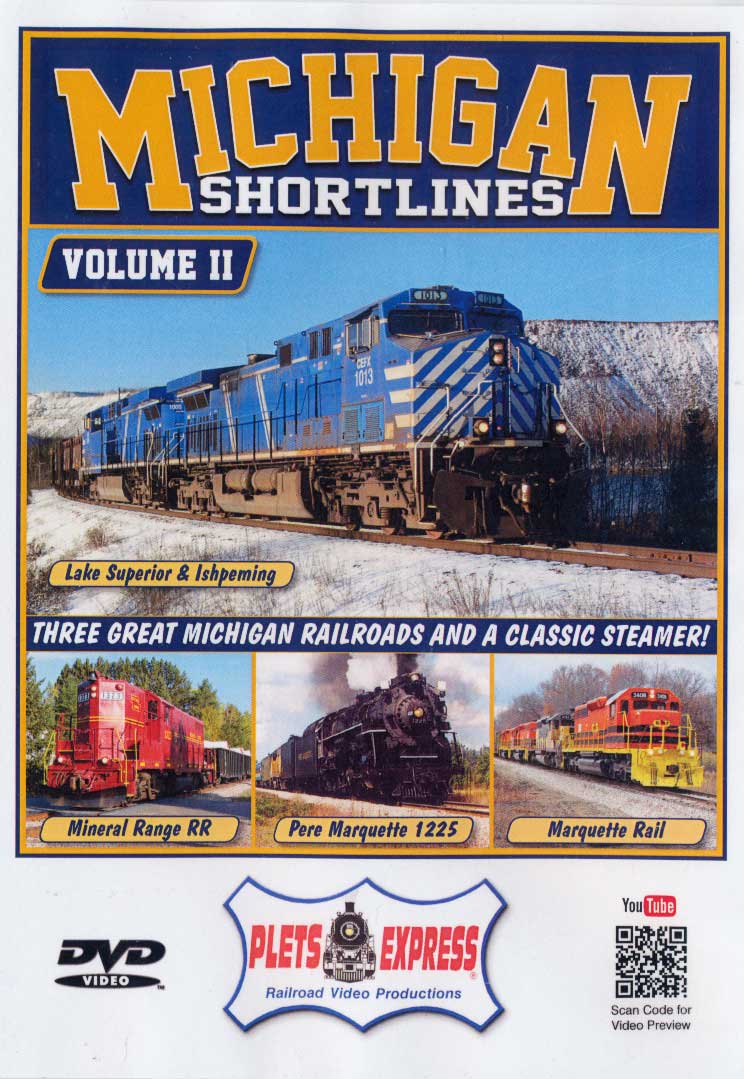Michigan Shortlines Volume 2 DVD Train Video Plets Express 106MISL2 753182981062