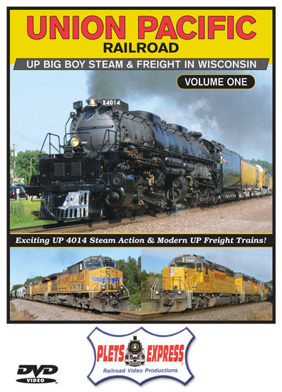 Union Pacific Vol 1 Big Boy and Freights in Wisconsin DVD Plets Express 120UP1D