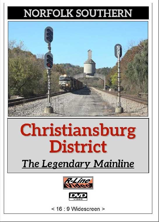 Norfolk Southern Christiansburg District Legendary Mainline DVD R-Line Video RL-NSCDDVD