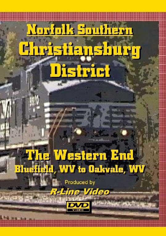 Norfolk Southern Christiansburg District Western End DVD Bluefield to Oakvale WV R-Line Video RL-CDWE