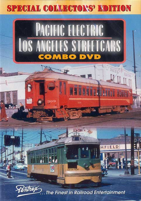 Pacific Electric  Los Angeles Streetcars Combo DVD Train Video Pentrex REDCARS-DVD 748268004483