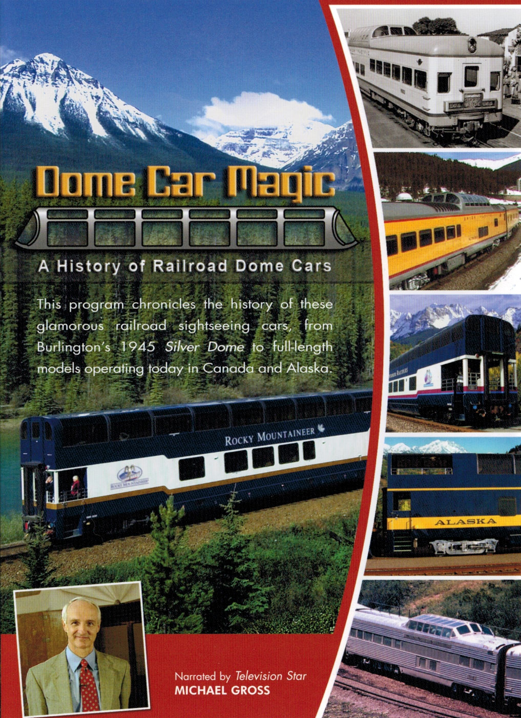 Dome Car Magic - A History of Railroad Dome Cars on DVD Train Video Kalmbach Publishing RK-DOMECAR 823995200596