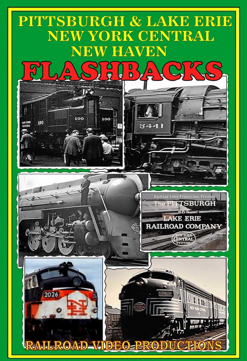 Pittsburgh & Lake Erie New York Central New Haven Flashbacks DVD Railroad Video Productions RVP217D