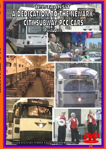NJ Transit A Dedication to the Newark City Subway PCC Cars Part 1 DVD Railroad Video Productions RVP172D