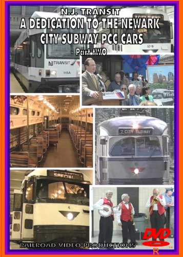 NJ Transit A Dedication to the Newark City Subway PCC Cars Part 2 DVD Train Video Railroad Video Productions RVP173D