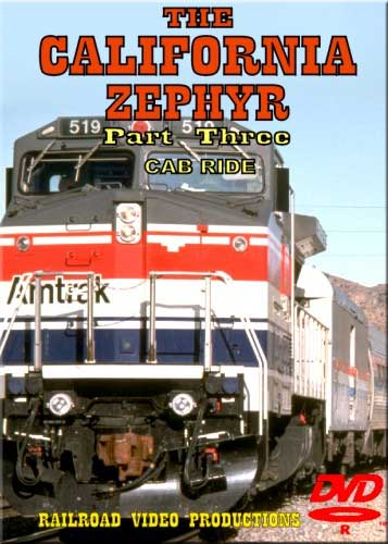 Amtraks California Zephyr Cab Ride Part 3 Colfax to Davis DVD Train Video Railroad Video Productions RVP18CD