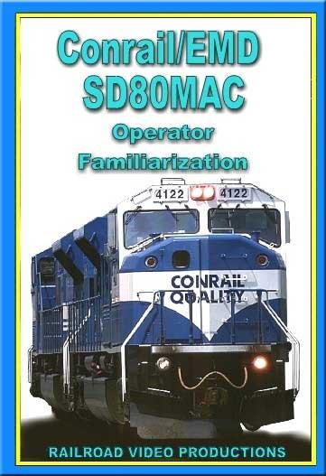 Conrail EMD SD80MAC Operator Familiarization DVD Train Video Railroad Video Productions RVP199D