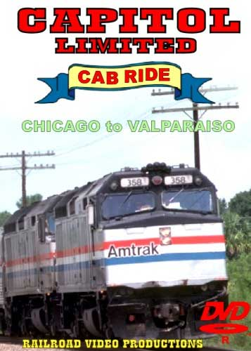 Amtrak Capitol Limited Cab Ride DVD Part 1 Chicago to Valparaiso Railroad Video Productions RVP20AD