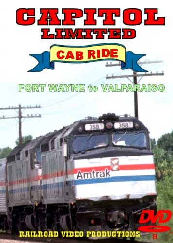 Amtrak Capitol Limited Cab Ride DVD Part 2 Fort Wayne to Valparaiso Train Video Railroad Video Productions RVP20BD