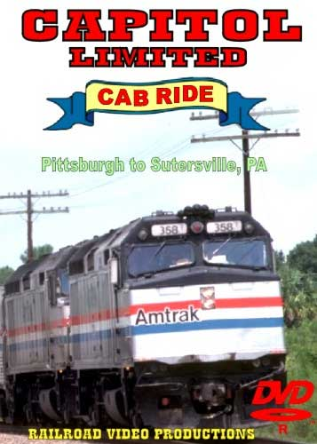 Amtrak Capitol Limited Cab Ride DVD Part 3 Pittsburgh to Sutersville Train Video Railroad Video Productions RVP20CD