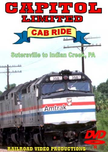 Amtrak Capitol Limited Cab Ride DVD Part 4 Sutersville to Indian Creek Train Video Railroad Video Productions RVP20DD
