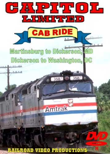 Amtrak Capitol Limited Cab Ride DVD Part 9 & 10 Martinsburg to Washington DC Train Video Railroad Video Productions RVP20IJD