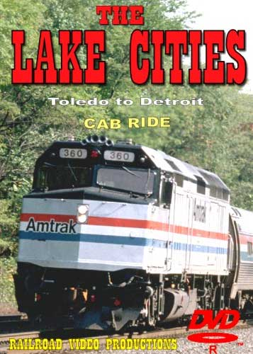 Amtrak Lake Cities Part 1 Cab Ride DVD Toledo to Detroit Train Video Railroad Video Productions RVP21AD