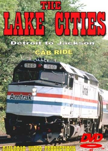 Amtrak Lake Cities Part 2 Cab Ride DVD Detroit to Jackson Train Video Railroad Video Productions RVP21BD