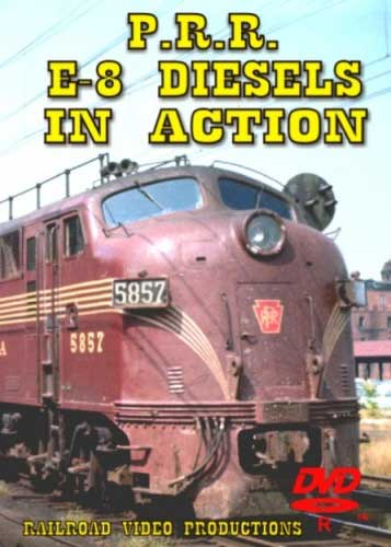 Pennsylvania Railroad E-8 Diesels in Action DVD Train Video Railroad Video Productions RVP32D