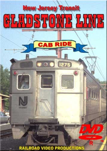 New Jersey Transit Gladstone Line Cab Ride DVD Train Video Railroad Video Productions RVP58D