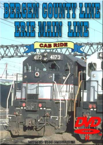 Bergen County Line & Erie Main Line Cab Ride DVD Railroad Video Productions RVP60-61D