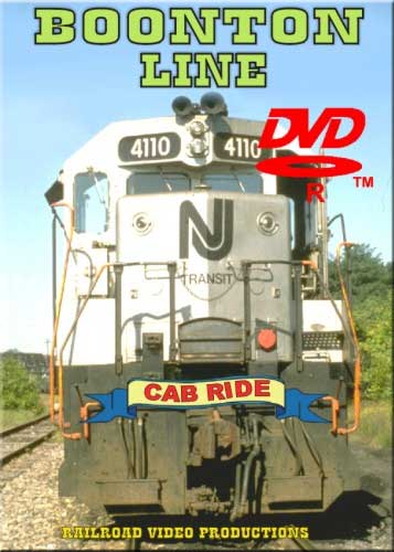 Boonton Line Cab Ride DVD Train Video Railroad Video Productions RVP68D