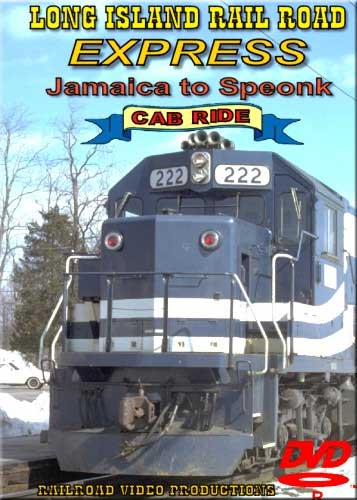 Long Island Railroad Express Cab Ride Jamaica to Speonk DVD Railroad Video Productions RVP85D