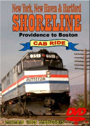 Amtrak Shoreline Cab Ride DVD Providence to Boston Train Video Railroad Video Productions RVP9-2D