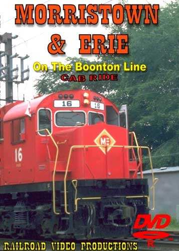 Morristown & Erie on the Boonton Line Cab Ride DVD Railroad Video Productions RVP94D
