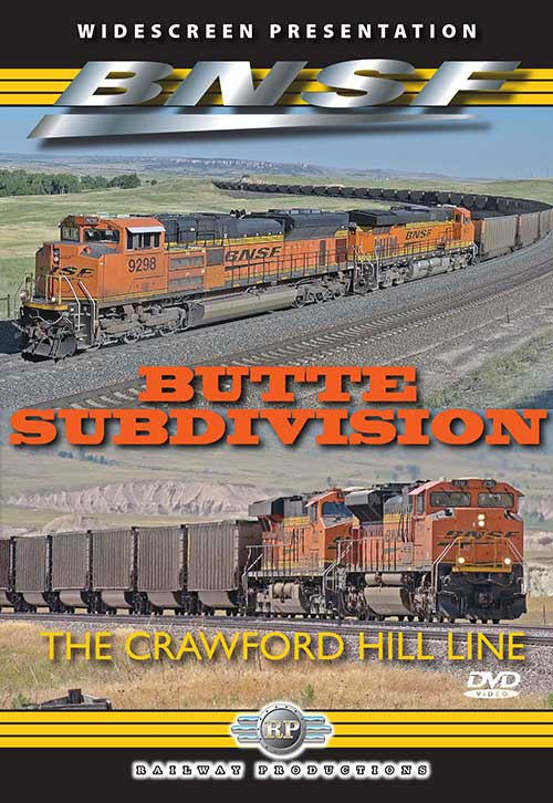 BNSFs Butte Subdivision - The Crawford Hill Line DVD Railway Productions BUTTEDVD