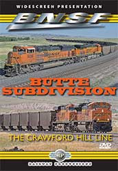 BNSFs Butte Subdivision - The Crawford Hill Line DVD