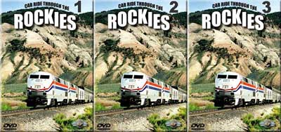 Cab Ride Through the Rockies Set 3 Discs Part 1-3 Railway Productions CABRKSET