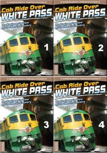 Cab Ride Over White Pass Set 4 Discs Part 1-4 Train Video Railway Productions CRWHTPSSSET