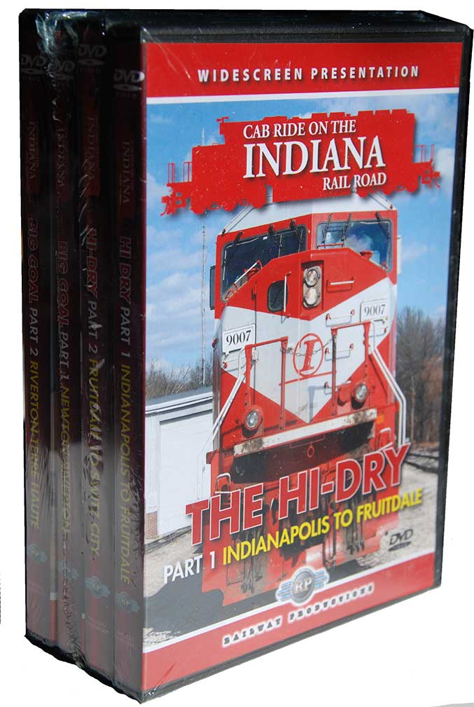 Cab Ride on the Indiana Rail Road 4 DVD Set Hi-Dry & Big Coal Railway Productions INRDALLDVD