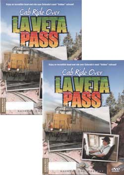 Cab Ride Over La Veta Pass 2-DVD Set Sierra to near Fort Garland Train Video Railway Productions LVCABSET