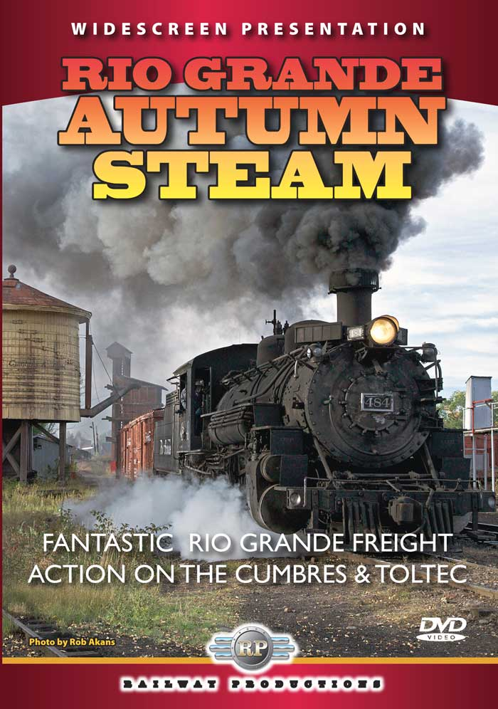 Rio Grande Autumn Steam DVD Railway Productions RGASDVD 616964004840