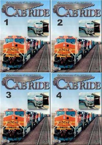 Southern California Cab Ride Set 4 Discs Parts 1-4 Train Video Railway Productions SCALCABSET