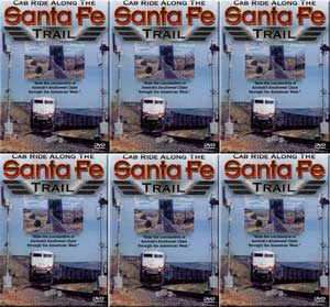 Cab Ride Along the Santa Fe Trail Part 1-6 6-disc Set! Railway Productions SFTRAILSET