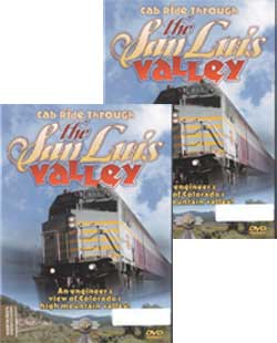 Cab Ride Through the San Luis Valley 2-DVD Set Alamosa to Sierra - Alamosa yp Atomito Railway Productions SLVCABSET