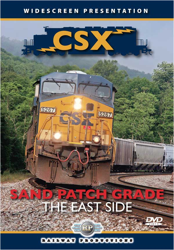 CSX Sand Patch Grade - The East Side DVD Train Video Railway Productions SPEDVD 616964052674