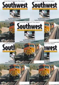 Cab Ride Through the Great Southwest 5-DVD Set Kingman AZ to Albuquerque NM Train Video Railway Productions SWDVDSET