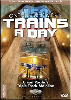 150 Trains A Day UPs Triple Track Main DVD Railway Productions UP150 616964576279