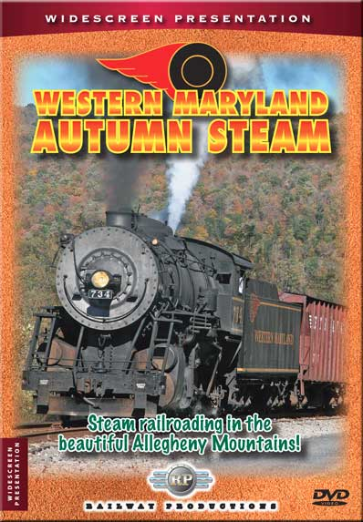 Western Maryland Autumn Steam DVD Train Video Railway Productions WMASDVD 616964007346