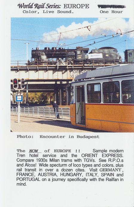 Europe for Railfans DVD Train Video Revelation Video RVQ-E4RF