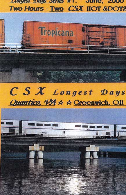Longest Days CSX Quantico VA Greenwich OH DVD Revelation Video RVQ-LDQG