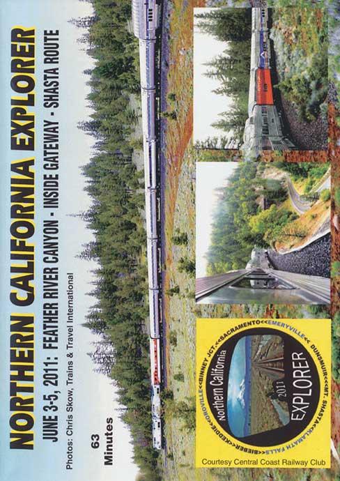 Northern California Explorer - Feather River - Inside Gateway - Shasta Route DVD Revelation Video NOCALX