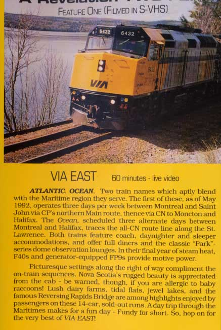 Via East Atlantic Ocean - Maritime MLWs - Revelation Video Two-Fer DVD Train Video Revelation Video RVQ-2FER
