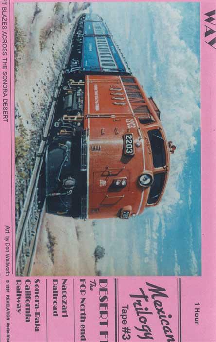 Sonora-Baja California Railway DVD Revelation Video RVQ-BAJA