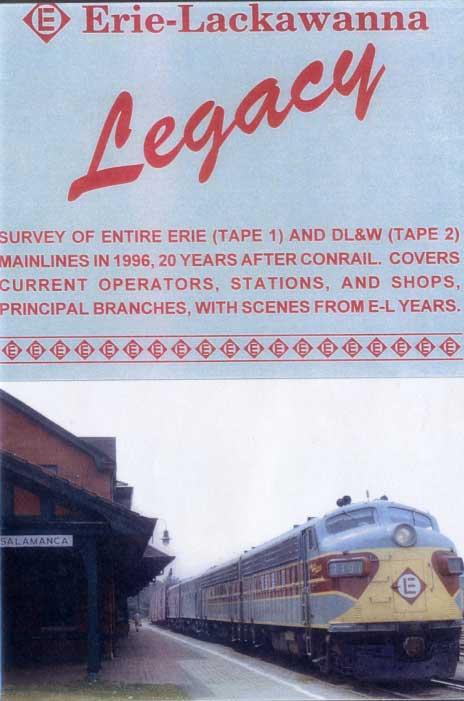 Erie-Lackawanna Legacy 2 Disc DVD Train Video Revelation Video RVQ-ELLE
