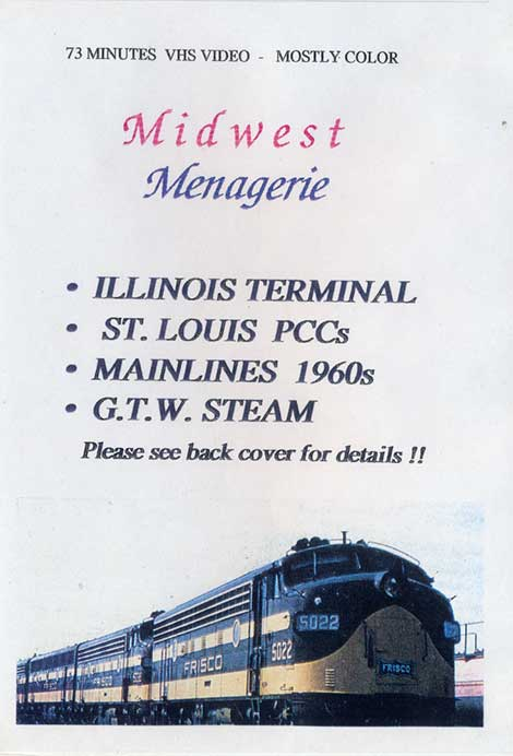 Midwest Menagerie DVD Train Video Revelation Video RVQ-MIDM